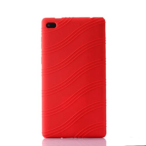 Oneyijun Red Soft Silicone Skin Pouch Protection Case Protective Cover for Lenovo Tab 7 Essential TB-7304X/I/F/N 7.0 inch Tablet