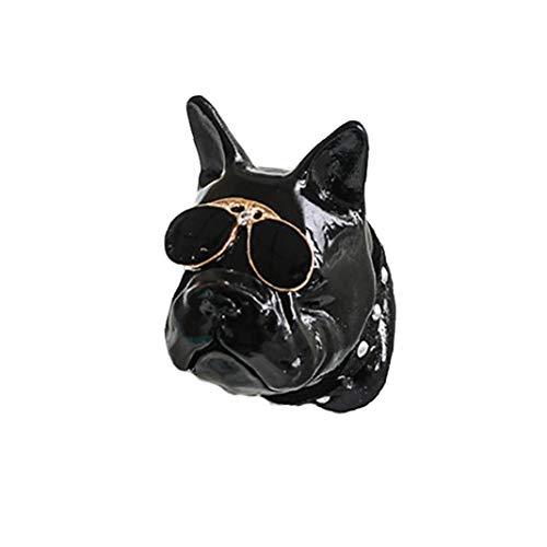 YZLSM Bulldog Parfüm Clip Mini Aroma Diffuser Lufterfrischer Für Auto-kraftfahrzeug-Vent-erfrischungs Hund Aroma Diffuser Kraftfahrzeug-Vent