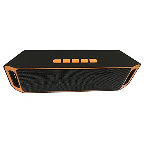 Taloit Altavoz de subwoofer dual de alta potencia de 40 W al aire libre, altavoz portátil compatible con Bluetooth, altavoz estéreo inalámbrico impermeable USB/TF/AUX FM