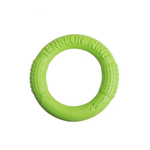 Edhua Hundespielzeug, langlebiger Gummiring, zum Reinigen von Zähnen, Beiß-resistent, interaktives Hundespielzeug, 17/27 cm