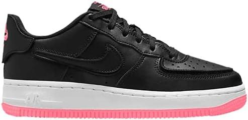 Nike Girls' Big Kids AIR Force 1/1 Black Pink DB4545G 005