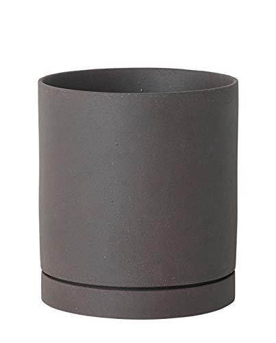 ferm Living Toppers 5471 Sekki en Argile Gris foncé/Anthracite Diamètre 15,5 cm Hauteur 17,5 cm