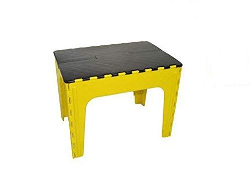 Vetrineinrete® Tavolino richiudibile Rettangolare colorato per Bambini Tavolo da Gioco in plastica per Giardino casa cameretta per Giocare colorare Idea Regalo 4419