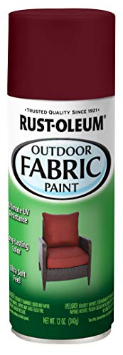 Rust-Oleum 358831 Specialty Outdoor Fabric Paint, 12 Ounce (Pack of 1), Dark Red
