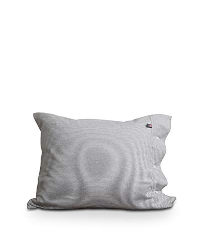 Lexington Kissenbezug, 100 % Baumwolle, 50 x 75 cm, Hellgrau/Weiß gestreift