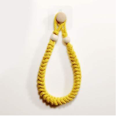 Portarrollos de cuerda para inodoro, soporte para rollo de inodoro, soporte para rollo de papel higiénico, soporte para pared para decoración de baño (amarillo)