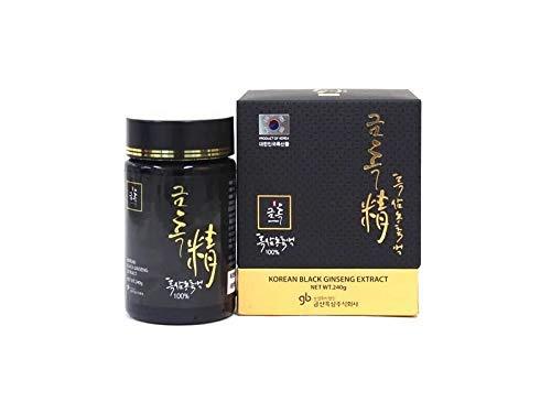 GINSENG NEGRO Coreano Extracto 240g 100% natural - Curación de 8 meses - Alto contenido de saponinas 80 mg/g - Ginsenósidos Rg1, Rb1, Rg3 6 mg/g. Reforzado con ginsenósidos Rg3, Rg5 y Rk1