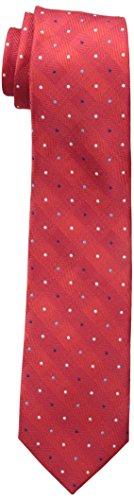 Dockers Big Boys Pin Dot Plaid Tie, Red, OS