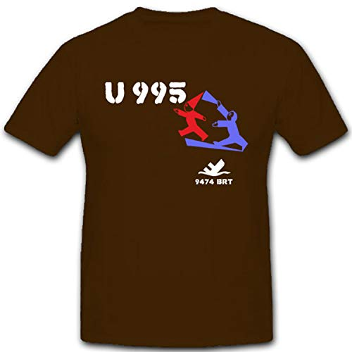 U Boot 995 WK WH Marine Knm Kaura Kapitänleutnant Walter Köhntopp Kiel U Boot Abwehr- T Shirt #2196, Größe:XXL, Farbe:Braun