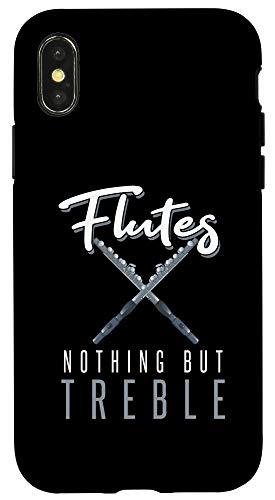 iPhone X/XS Vintage Flutes Nothing But Treble Musical Instrument Flute Case