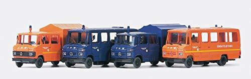 Preiser 1/87th–pr31211–Modelleisenbahnen–4Verschiedene Modelle Augenschutzbrille–Feuerwehrschutzbrille–Feuerwehr–MB508
