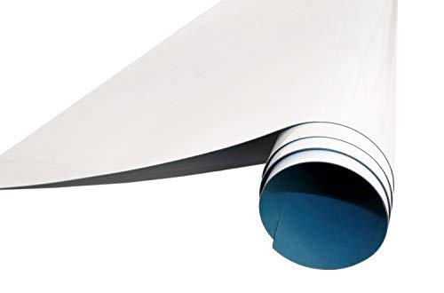 Queence | Selbstklebende Magnetische Whiteboard Folie | Weißwandtafel | Whiteboard | Schreibtafel | Folie | Wandfolie | Multifunktionstafelfolie | Farbe: Weiß, Größe:50x50 cm