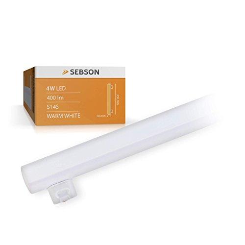 SEBSON® S14S bombilla 4W LED 30cm (Equivale a 35W, Blanco cálido, 400lm, 150º)