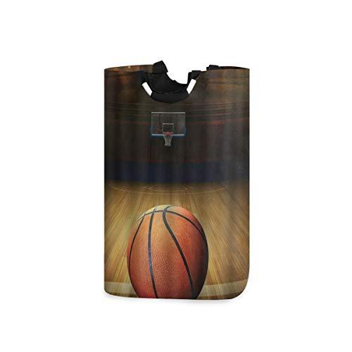 COFEIYISI Wäschesammler Wäschekorb Faltbarer Aufbewahrungskorb,Basketball Kunstdruck,Wäschesack - Wäschekörbe - Laundry Baskets