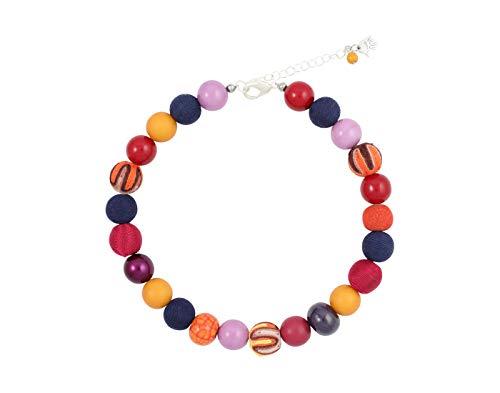 Feliss Kette Damen Halsketten für Frauen Bunte Perlenkette ohne Anhänger 45 cm lang Schmuck Geschenk für Freundin Mutter Geburtstagsgeschenk Ideen Necklace Ketten für...