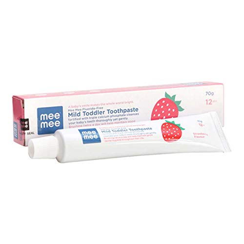 Mee Mee Fluoride-Free Toothpaste, Strawberry, 70g