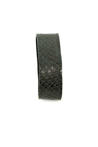 Stefanie Renoma Bellissimo Bracciale in pitone grigio e grigio