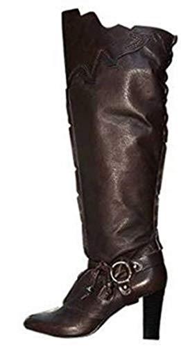 APART Fashion Stiefelette Stiefel Glattleder mit Applikationen in braun, Gr. 42