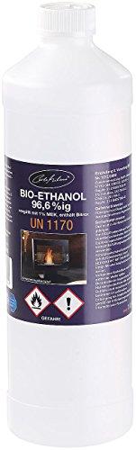 FireBuster Carlo Milano Bioäthanol: Bio-Ethanol/Bio-Alkohol f. Deko-Kamine, 1 Liter,TÜV-Süd-Zertifiziert (Bioalkohol)