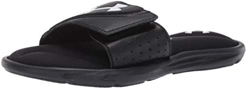 Under Armour Boys Ignite VI Slide Sandal Black 001 Black 6 M US Big Kid product image