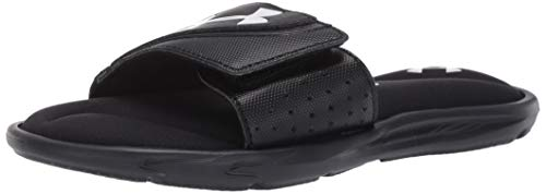Under Armour Boys' Ignite VI Slide Sandal, Black (001)/Black, 4 M US Big Kid