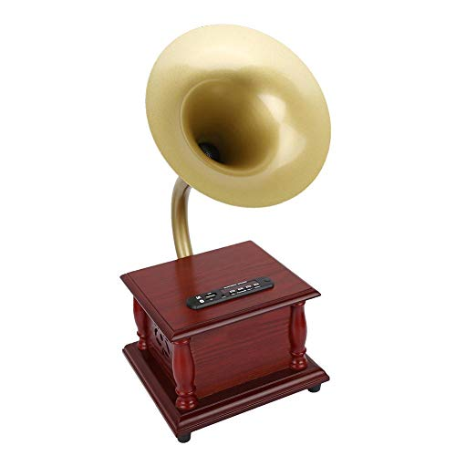 Grammofono Retrò stile classico fonografo Mini grammofono vintage Altoparlante stereo Scatola audio...