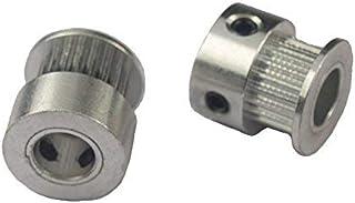 Xsentuals GT2 Timing Pulley 20 Teeth Aluminium 8mm Bore for 3D Printers 2pcs(2mm Pitch)