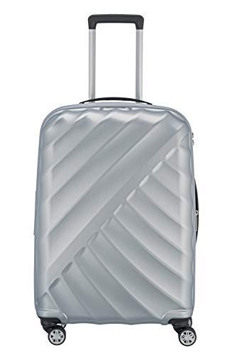 """TITAN """"SHOOTING STAR"""" von TITAN®: Robuste Hartschalen-Trolleys in coolem Metallic-Look in 4 Trendfarben Koffer, 66 cm, 70L, Silver"""