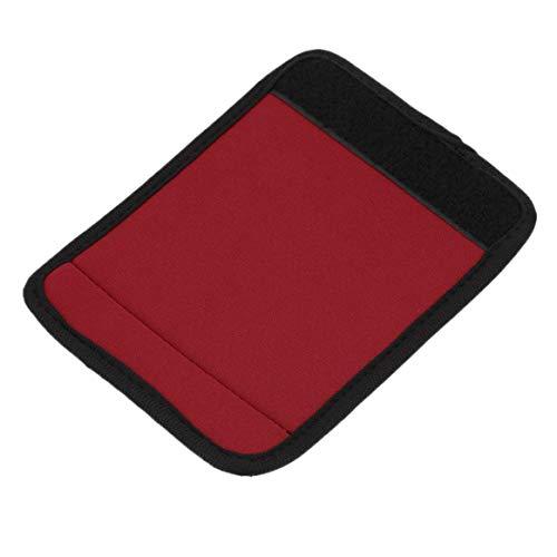 Delicacydex Poignées légères en néoprène confortables/Poignée/Identifiant pour sac de voyage Valise Valise S'adapte à toute poignée de valise - Rouge