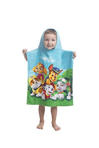 JERRY FABRICS Toalla de baño Infantil con Capucha y diseño de Patrulla Canina, algodón, Multicolor, tamaño 50 x 115 cm