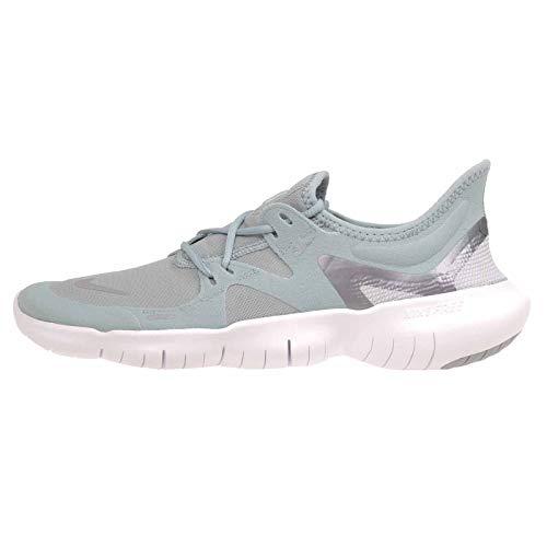 Nike Free RN 5.0 Women's Running Shoe Ocean Cube/MTLC Cool Grey-Pure Platinum Size 5.5