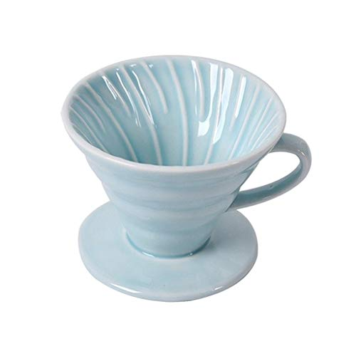 Manual Reusable Ceramic Coffee Filter Cone Cup Coffee Dripper Holder with...