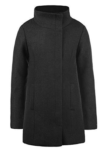 DESIRES Wolke Damen Winter Jacke Mantel Wollmantel Winterjacke mit Stehkragen, Größe:L, Farbe:Dark Grey Melange (8288)