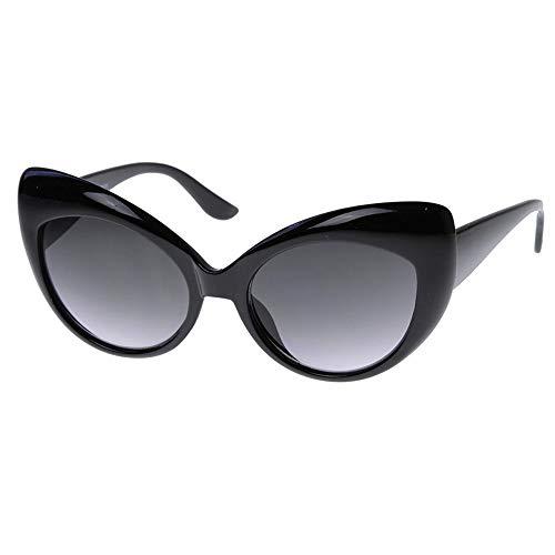 KISS Gafas de sol CAT EYE mod. DIVA - moda vintage MUJER nikita rockabilly OVERSIZE - NEGRO