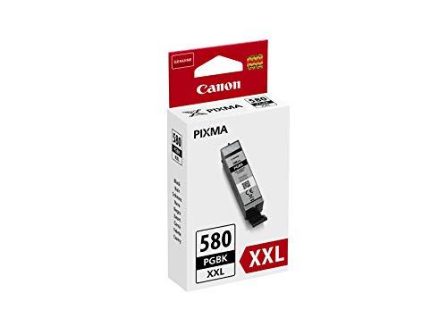 Canon PGI-580BK / CLI-581 BK/C/M/Y Druckertinte - Pigment- und Farbstofftinte Multipack Druckertinte & PGI-580 XXL PGBK Tintentank - Pigment Schwarz sehr hohe Reichweite 25,7 ml