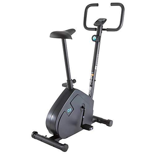 FWQAZ Bicicleta Estática, Uso Semiprofesional con Pulsómetro, Pantalla LCD y Resistencia Variable. Estabilizadores. Completamente Regulable. Rueda de Inercia