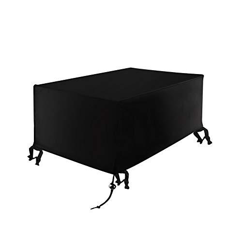 Xiliy Funda para Muebles de Jardín Muebles de Jardín de Mimbre 210D Oxford Poliéster (270 x 180 x 89 cm)