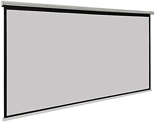 Projektionsskärmar Utomhus Projektorskärm 3D HD Väggmonterad gardin 16: 9 Hand projektorskärm Mattgrå tyg Fiberglas för hemmabio Projektorskärm 1705