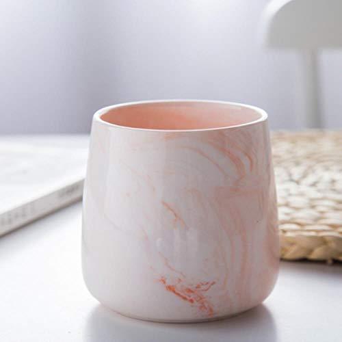 Heng Nordic Art Marmer Keramische Mond Cup Enkele Eenvoudige Hotel Wc Roze Paar Wastafel Moderne Badkamer Decoratie Accessoires, B-380ML