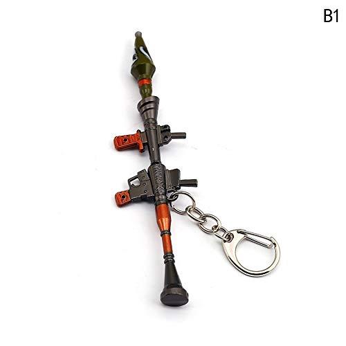 Fernando feliz Llavero - 13 CM Rifle de Modelo de Juguete de Aleación -Juguetes de Réplica de Armas para Niños Adultos,Figura Juguetes Colección Bonito Llavero Regalo