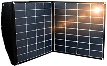100W Plug & Play Portable Folding Solar Panel Kit with Dual Battery Charge Controller for 12V Battery - Boats, RV's, Car's & Camping. Power Laptop, Phone, Tablet and Camera Charging and USB Devices