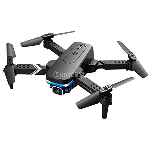 NC NC Droni Pieghevoli KY910 con WiFi Altitude Hold Flip a 360 Gradi Telecomando Regali Quadcopter RC Drone per Principianti all'aperto, Ragazzi Ragazze, - 3X Batteria Nera