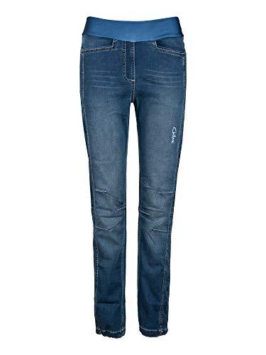 Chillaz W Sarah Pant Blau, Damen Hose, Größe 40 - Farbe Denim Dark Blue