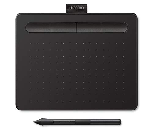 Wacom Intuos S, Pen Tablet, Mobile Graphic Tablet for Painting, Sketching and Photo Retouching with 1 Free Creative Software Download, Windows and Mac Compatible, Black (Renewed)