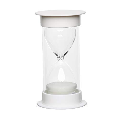 Toirxarn Reloj de arena, doble protección, asistente de gestión del tiempo, regalo creativo, decoración de la oficina de la sala de estar - 10 minutos Blanco