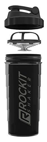 RockitShaker 1000ml Protein Shaker | garantiert auslaufsicher | BPA frei | patentiertes Mischsystem | für deinen fitness Eiweißshake und Proteinshake
