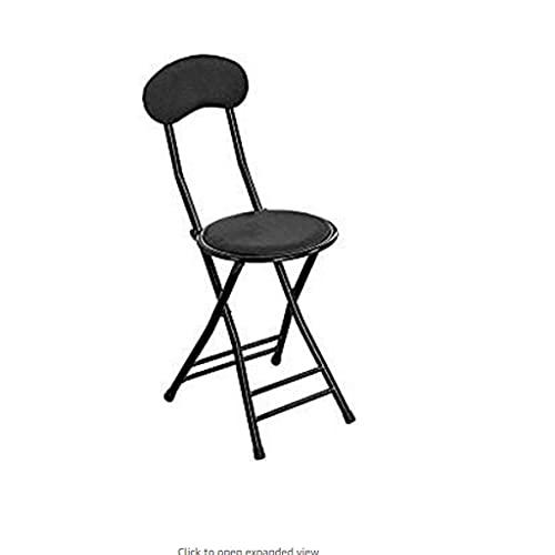 BJH Taburete Plegable Acolchado Silla de Oficina Silla de Oficina Plegable Silla Alta Respaldo de Cocina Silla de Bar de Comedor