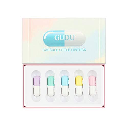 Auifor 5 stuks capsule lippenstift waterdichte duurzame vrouwen cadeau cosmetische schoonheid make-up 06#