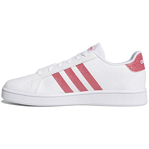 adidas Unisex Grand Court Sneaker, Cloud White/Real Pink/Cloud White, 38 2/3 EU