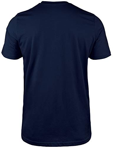 Moderno Men's Angry Mickey Mouse Organic Cotton T-Shirt, CN098, Navy, US XL